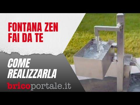 Fontana zen fai da te in acciaio inox per giardino youtube for Decorazione giardino fai da te