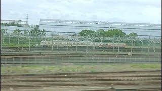 【JR東海・西日本・都営】西浜松のクロ381+117系と、組成中のN700A、都営12-600形甲種+キティはるか