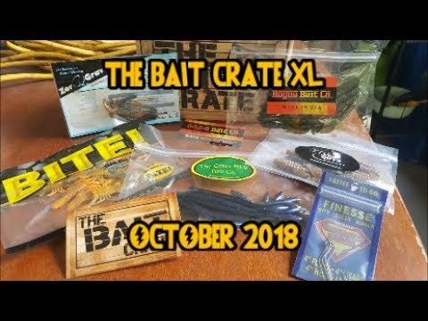 THE BAIT CRATE XL October 2018!! Bass Unboxing!!!