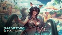Pool Party Ahri - Login Screen [1440p] 60fps