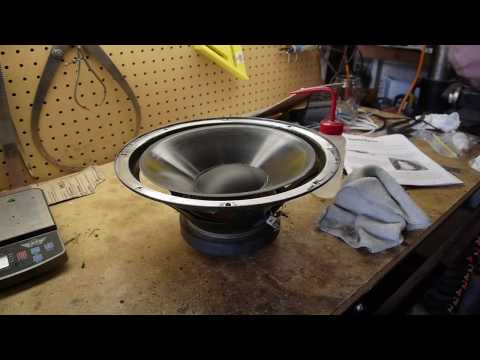 Speaker repair - replacing the foam surround