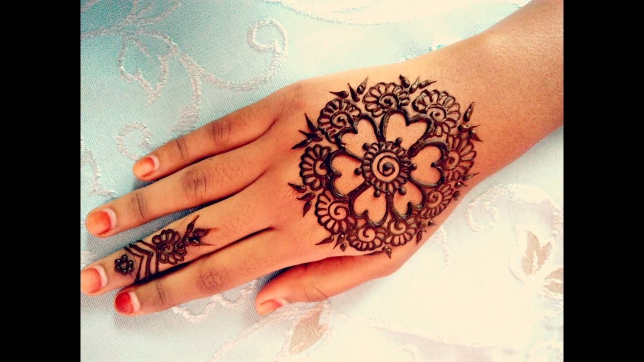 Mehndi Tattoo Hd : Simple arabic henna easy stylish mehndi tattoo design for