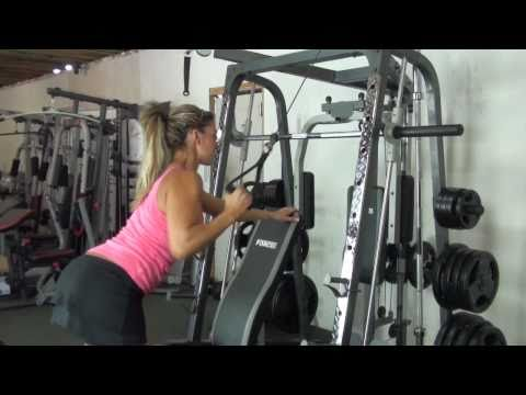 Smith Machine Exercises Part 2 F-SMC Smith Machine with Bench