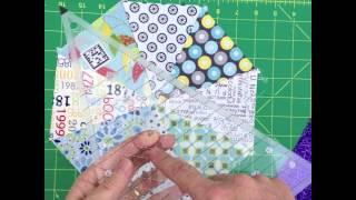 Pravítko na patchwork Spider Web Ruler video