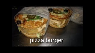 Pizza Burger Recipe - Burger Pizza Like Domino's at Home by CHEF ABDUL SAMAD