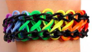 Repeat youtube video Como fazer pulseiras de elástico: Infinito #LoomBands (sem tear)