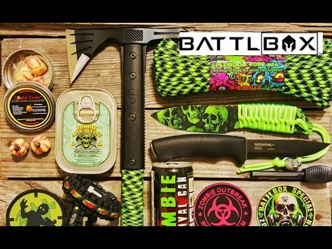 BattleBox Special Zombie Edition Survival Box - Unboxing / Review