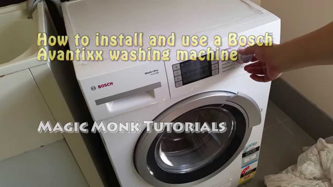 how to install and use a bosch avantixx washing machine. Black Bedroom Furniture Sets. Home Design Ideas