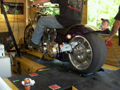 American Iron Horse Slammer on Cycle Dyno