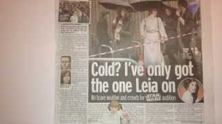 STAR WARS EP: 7 AUDITIONS - BRISTOL, UK - MIRROR NEWSPAPER STORY 11th NOV 2013