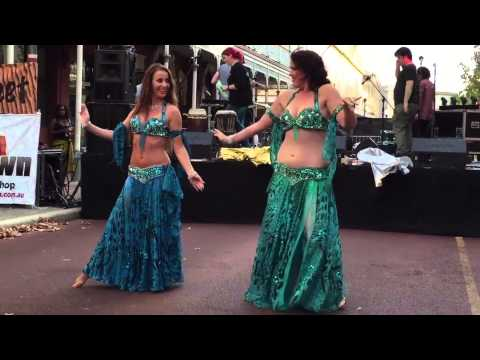 Perth Bellydance Eclipse perform to Sahra Saidi at the Fremantle Street Arts Festival