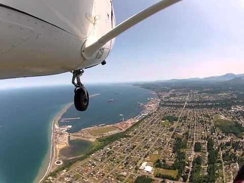 Flight over Sequim and Port Angeles - Part 1