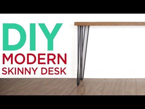 DIY Modern Minimalist Desk   7