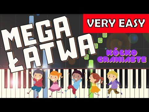 🎹 Kółko graniaste - Piano Tutorial (MEGA ŁATWA wersja) 🎹