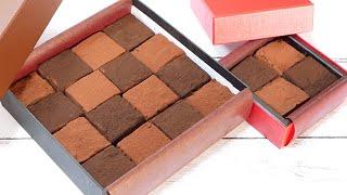 バレンタイン生チョコレート【板チョコと生クリームで作る】How to Make Nama Chocolate【Making with DAISO paper mold】