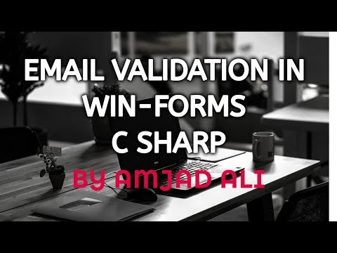 EMAIL VALIDATION IN WIN-FORMS C SHARP || AMJAD ALI || IN URDU/HINDI