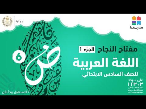 مادة اللغة العربية - الصف السادس الابتدائى