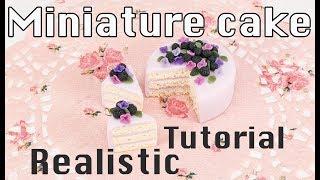 Miniature cake - tutorial - polymer clay 35c62af862276