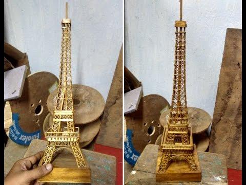 Hand Made Wooden Eiffel Tower