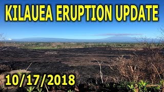 NEWS UPDATE Hawaii Kilauea Volcano Eruption Lava Report for 10/17/2018