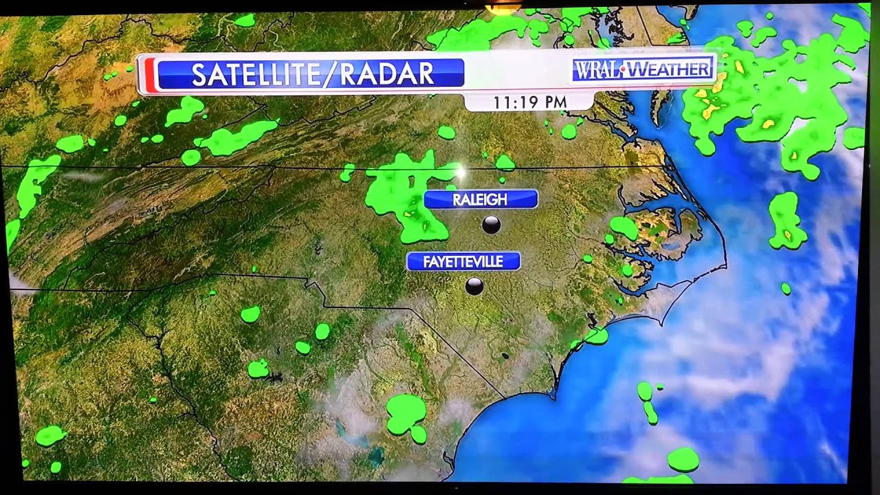 Aimee chokes on weather segment WRAL