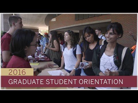 The Graduate School new student orientation