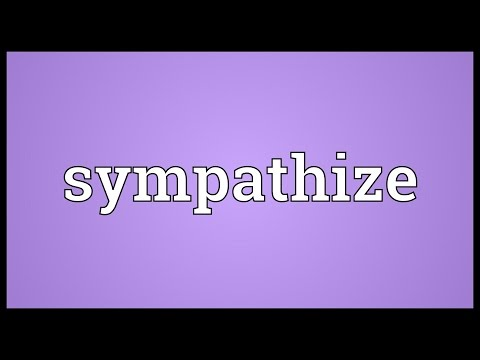 Sympathize Meaning