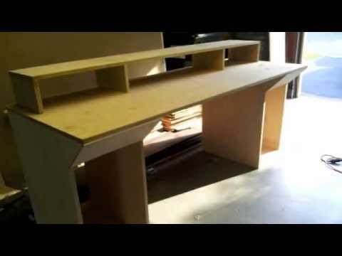 Building Home Studio Recording Desk   YouTube