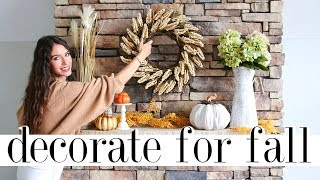 5 Easy Steps to PERFECT Fall Home Decor | Decorate With Me!