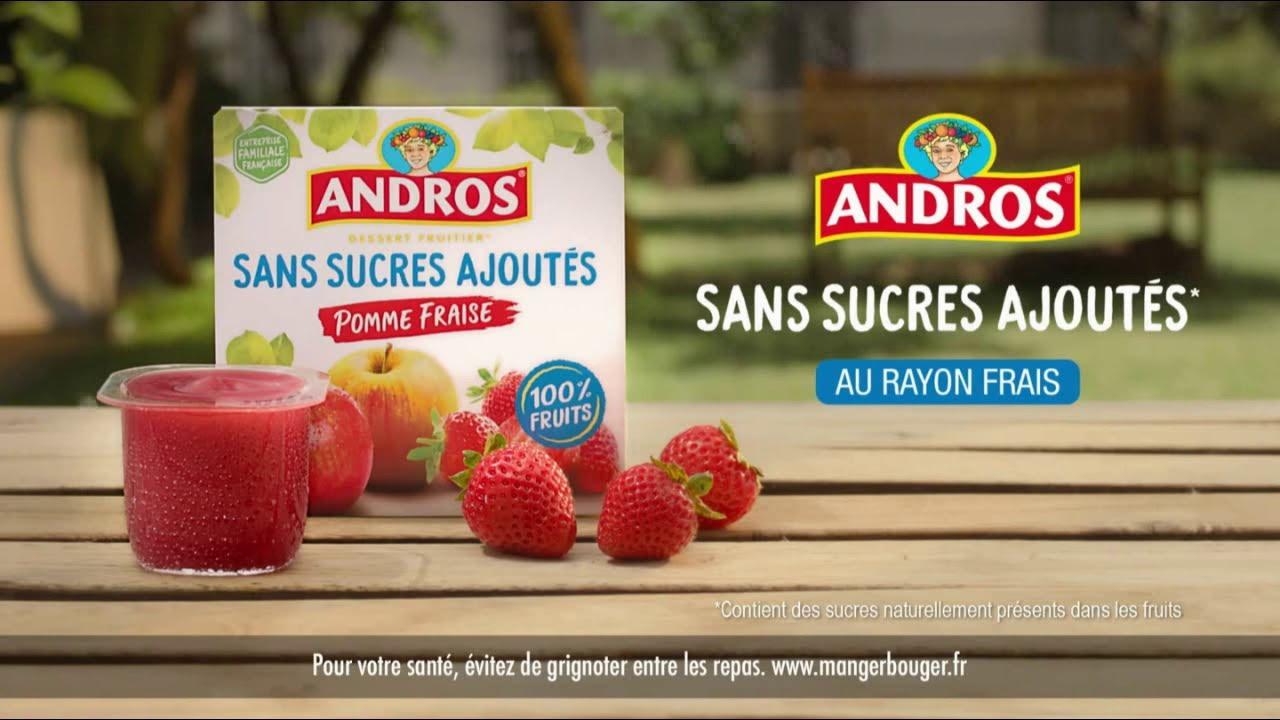 """Musique de la pub Dessert fruitier sans sucres ajoutés Andros """"pour voir la vie andros""""  2021"""
