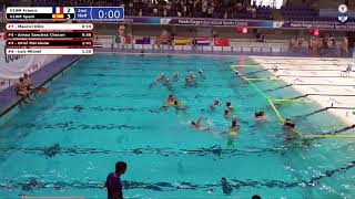 Game 175 - (FRA vs SPA U19M QF) - CMAS Underwater Hockey Age Group Worlds - Sheffield, UK (Court B)