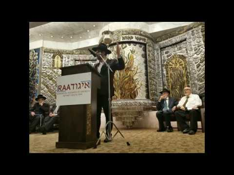 נדיר! הגאון הרב מאיר אליהו דורש ראשון  באיגוד ועד הרבנים של אמריקה