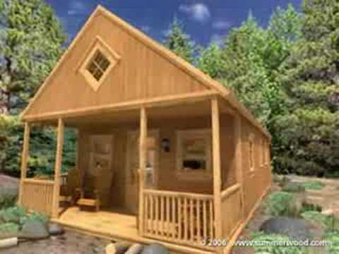 Summerwood Products Cabin Kits Cheyenne Cabin YouTube - Backyard cabin kits