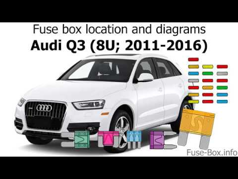 Fuse Box Location And Diagrams Audi Q3 8u 2011 2016 Youtube