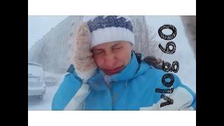 Vlog #60 Спуск на лыжах при ужасной погоде go pro, Хибины, Кукисвумчорр