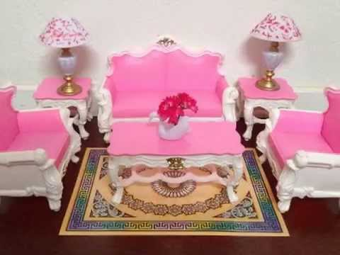 New Gloria Barbie Sized Deluxe Living Room Furniture & Accessories ...