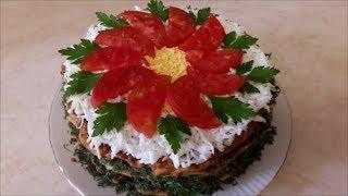 КАБАЧКОВЫЙ торт рецепт БЛЮДО , как закуска или лёгкий ужин Украшение блюда