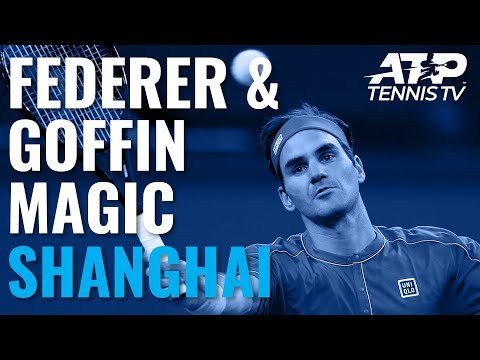 Roger Federer & David Goffin Magic ✨ | Shanghai 2019