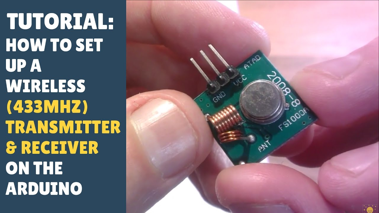 Tutorial How To Set Up Wireless Rf 433mhz Transmitter Receiver Module Arduino Radiohead