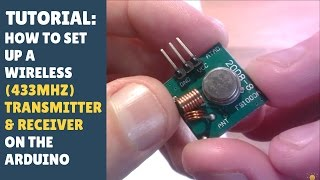 TUTORIAL: How to set up wireless RF (433Mhz) Transmitter & Receiver Module - Arduino! (RadioHead)