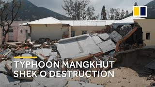 Drone footage: Typhoon Mangkhut Shek O, Hong Kong destruction