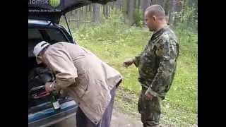 Вашки, август 2012г мы в тайге, водитель бухой, машина не заводится, пытаемся завести с толкача