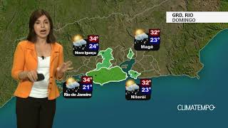 Previsão Grande Rio – Sol forte e chuva rápida