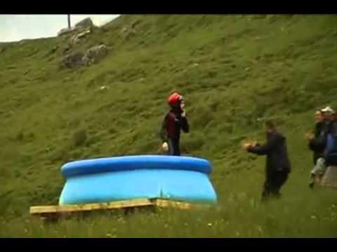 Amazing waterside jump