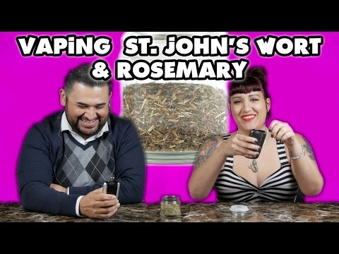 You Can Vape What?! - Vaping St. Johns Wort and Rosemary w/ the Ascent