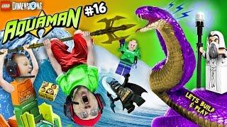 AQUAMAN TAKES A BATH!  Lets Build & Play LEGO Dimensions #16: Saruman Snake Boss Battle (FGTEEV)