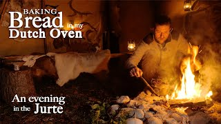 An evening in my Jurte and baking bread in the Dutch Oven | Bushcraft for photographers