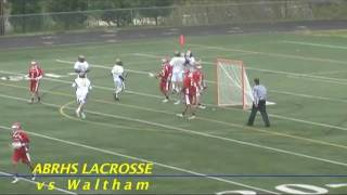 Acton Boxborough Varsity Boys Lacrosse vs Waltham May 2011