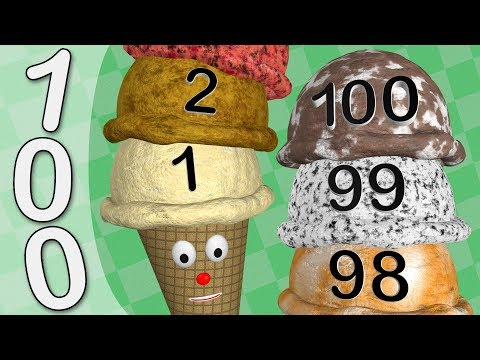 Count to 100 Ice Cream Scoops - Numbers 1 to 100