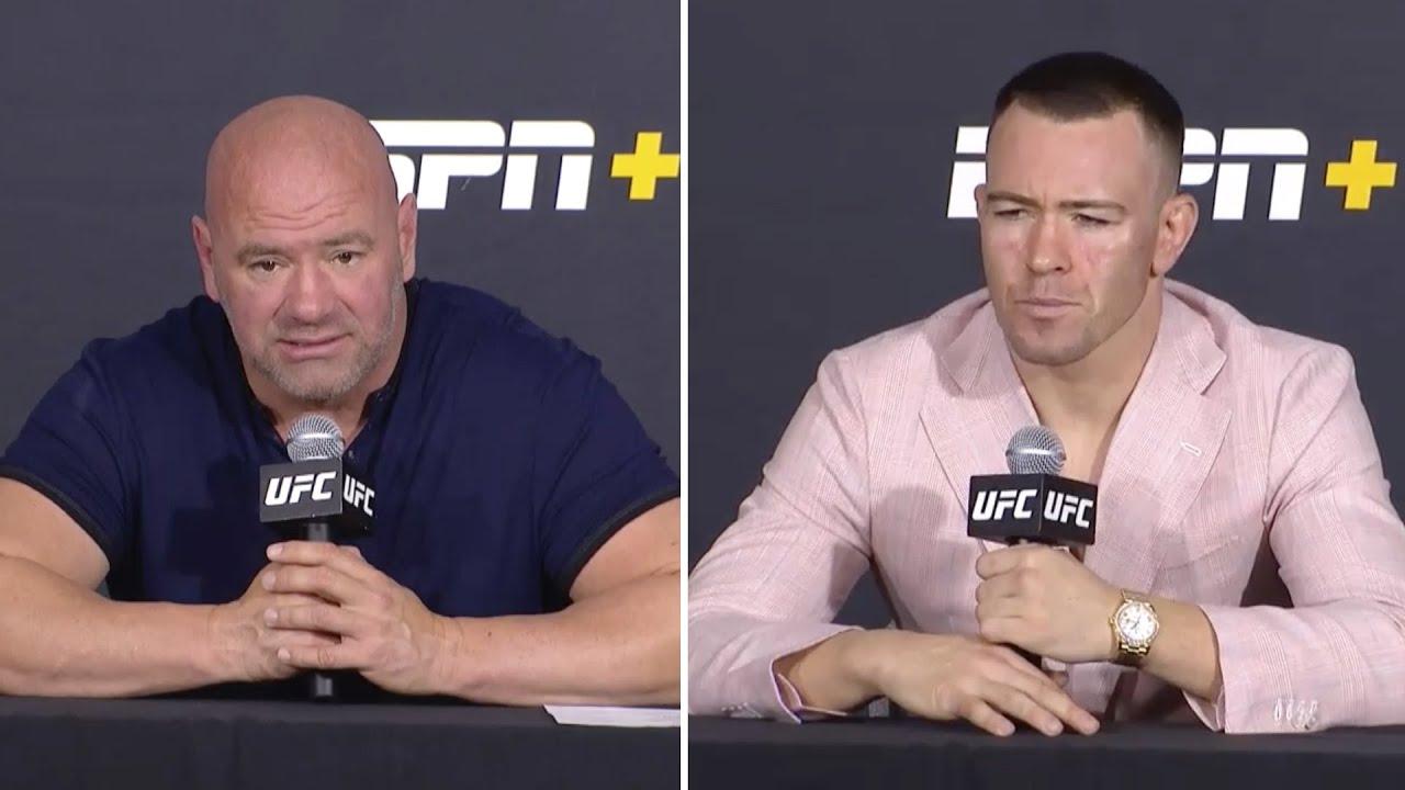 Колби Ковингтон и Дана Уайт на пресс-конференции после UFC Вегас 11